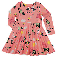 Buy Polarn O. Pyret Children's All-Over Rabbit Print Dress, Pink Online at johnlewis.com