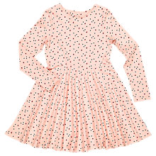 Buy Polarn O. Pyret Children's All-Over Dot Print Dress, Pink Online at johnlewis.com