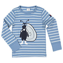 Buy Polarn O. Pyret Children's Stripe Ant Top, Blue Online at johnlewis.com