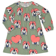 Buy Polarn O. Pyret Children's All-Over Beetle Print Dress, Green Online at johnlewis.com