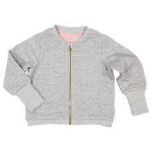 Buy Polarn O. Pyret Children's Reversible Spot And Stripe Jacket, Grey Online at johnlewis.com