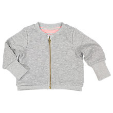 Buy Polarn O. Pyret Baby Reversible Spot And Stripe Jacket, Grey Online at johnlewis.com