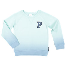 Buy Polarn O. Pyret Children's Two-Tone Sweatshirt Top, Blue Online at johnlewis.com