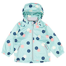 Buy Polarn O. Pyret Baby Dot Shell Coat, Blue/Multi Online at johnlewis.com