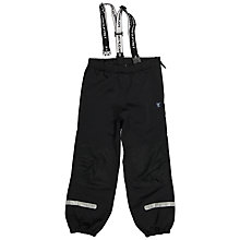 Buy Polarn O. Pyret Children's Shell Trousers, Black Online at johnlewis.com