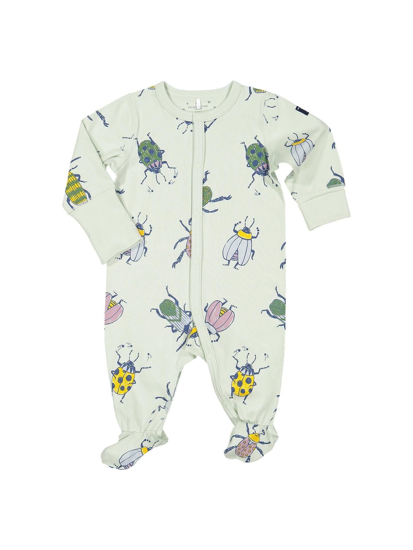 e2cb40d1b Polarn O. Pyret Baby Beetle Print Sleepsuit