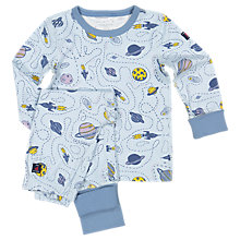 Buy Polarn O. Pyret Baby Outer Space Pyjamas Online at johnlewis.com