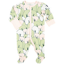 Buy Polarn O. Pyret Baby Tree Print Sleepsuit, Green Online at johnlewis.com