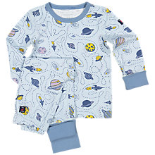Buy Polarn O. Pyret Children's Space Print Pyjamas Online at johnlewis.com