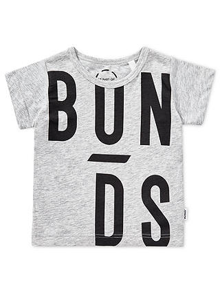 Buy Bonds Baby Logo T-Shirt, Grey, 0-3 months Online at johnlewis.com