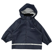Buy Polarn O. Pyret Baby Raincoat, Blue, 12-24 months Online at johnlewis.com