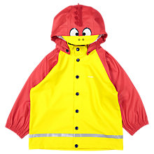 Buy Polarn O. Pyret Children's Duck Raincoat, Yellow/Red Online at johnlewis.com