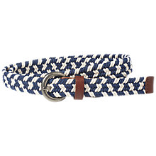 Buy Fat Face Lisa Braided Jeans Belt, Navy/White Online at johnlewis.com