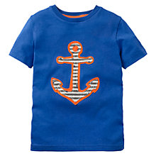 Buy Mini Boden Boys' Pirate Applique T-Shirt, Blue Online at johnlewis.com