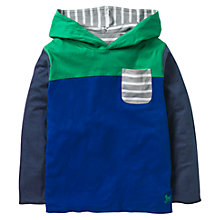 Buy Mini Boden Boys' Reversible Hooded Top, Blue/Grey Online at johnlewis.com