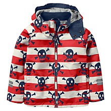 Buy Mini Boden Boys' Jersey Lined Anorak Coat, Red Online at johnlewis.com