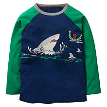 Buy Mini Boden Boys' Glow In The Dark Pirate Shark T-Shirt, Navy Online at johnlewis.com