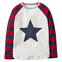 Buy Mini Boden Boys' Superstar Raglan T-Shirt, Ecru Online at johnlewis.com