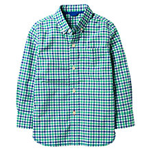 Buy Mini Boden Boys' Laundered Check Shirt, Green Online at johnlewis.com