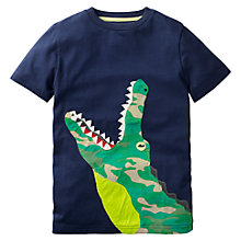 Buy Mini Boden Boys' Big Crocodile Applique T-Shirt, Navy Online at johnlewis.com
