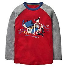 Buy Mini Boden Boys' Glow In The Dark Pirate Skeleton T-Shirt, Red Online at johnlewis.com
