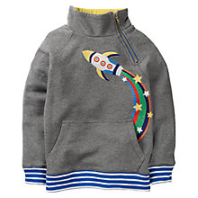 Buy Mini Boden Boys' Popover Sweatshirt, Grey Online at johnlewis.com