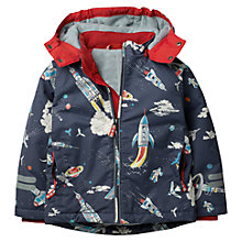 Buy Mini Boden Boys' Fleece Lined Anorak Coat, Grey Online at johnlewis.com