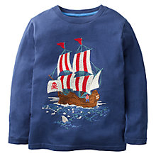 Buy Mini Boden Boys' Pirate Super Stitch T-Shirt, Navy Online at johnlewis.com
