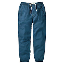 Buy Mini Boden Boys' Lined Woven Joggers, Blue Online at johnlewis.com