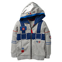 Buy Mini Boden Boys' Astronaut Hoodie, Grey Online at johnlewis.com