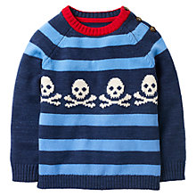 Buy Mini Boden Boys' Stripe Graphic Jumper, Navy Online at johnlewis.com