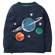 Buy Mini Boden Boys' Space Glow In The Dark Jumper, Blue Online at johnlewis.com