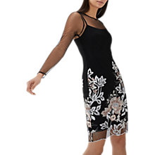Buy Coast Sansa Embroidered Shift Dress, Black/Multi Online at johnlewis.com