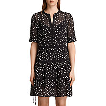 Buy AllSaints Picolina Tier Dress, Black Online at johnlewis.com