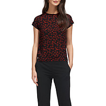 Buy Whistles Lips Print Top, Black/Multi Online at johnlewis.com