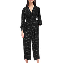 Buy Whistles Mika Spot Wrap Jumpsuit, Black/White Online at johnlewis.com