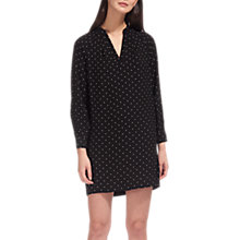Buy Whistles Spot Shift Dress, Black/White Online at johnlewis.com