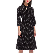 Buy Whistles Kamala Belted Dress, Black/White Online at johnlewis.com