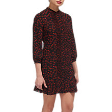 Buy Whistles Lilly Lips Print Dress, Black/Multi Online at johnlewis.com
