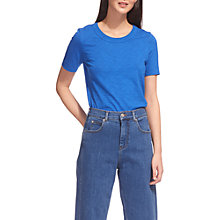 Buy Whistles Rosa Double Trim T-Shirt, Blue Online at johnlewis.com
