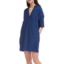 Buy Whistles Lea Pocket Linen Blend Dress, Dark Blue Online at johnlewis.com