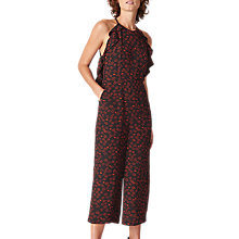 Buy Whistles Sonia Lips Print Jumpsuit, Black/Multi Online at johnlewis.com