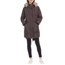 Buy Whistles Cassie Casual Parka, Grey Online at johnlewis.com