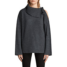 Buy AllSaints Sura Tie Neck Jumper Online at johnlewis.com