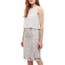 Buy Phase Eight Tuileries Layered Lace Dress, Smoke/Pale Cameo Online at johnlewis.com