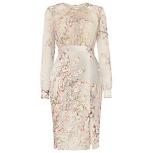Buy Phase Eight Nissa Floral Print Dress, Cream Buttermilk/Multi Online at johnlewis.com