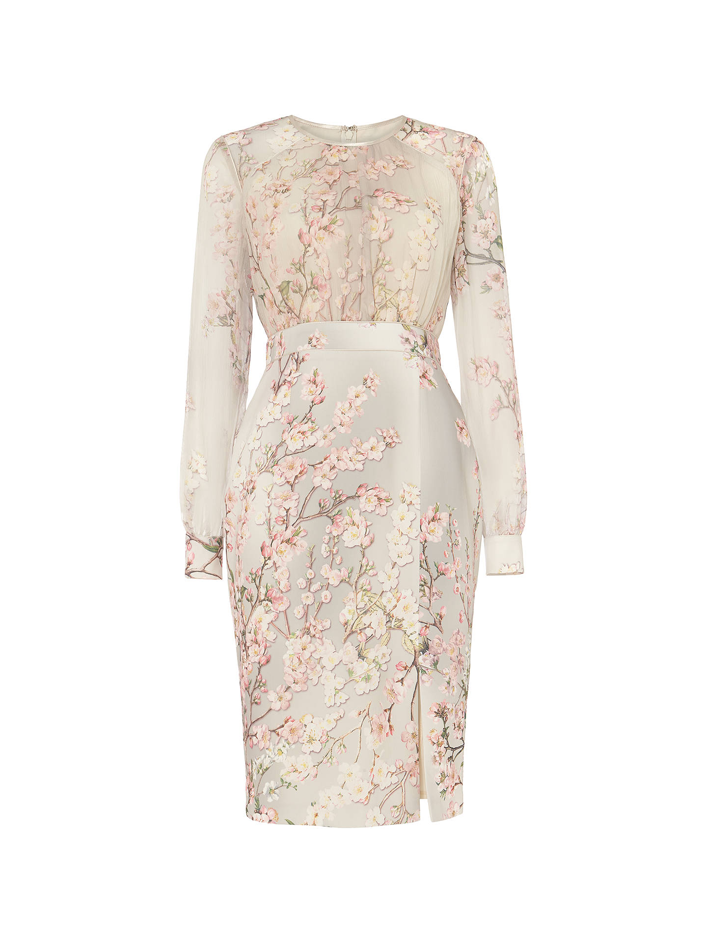 BuyPhase Eight Nissa Floral Print Dress, Cream Buttermilk/Multi, 10 Online at johnlewis.com