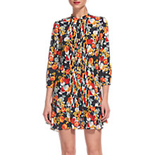 Buy Whistles Floral Print Pintuck Dress, Multi Online at johnlewis.com