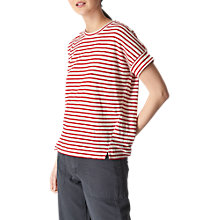 Buy Whistles Stripe Short Sleeve Cotton T-Shirt, Multi Online at johnlewis.com