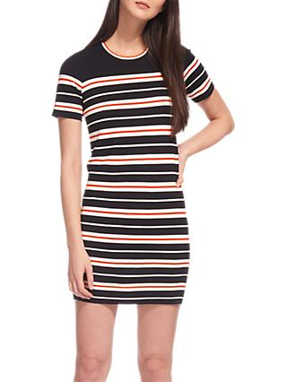 Whistles Milano Stripe Knitted Dress, Multi